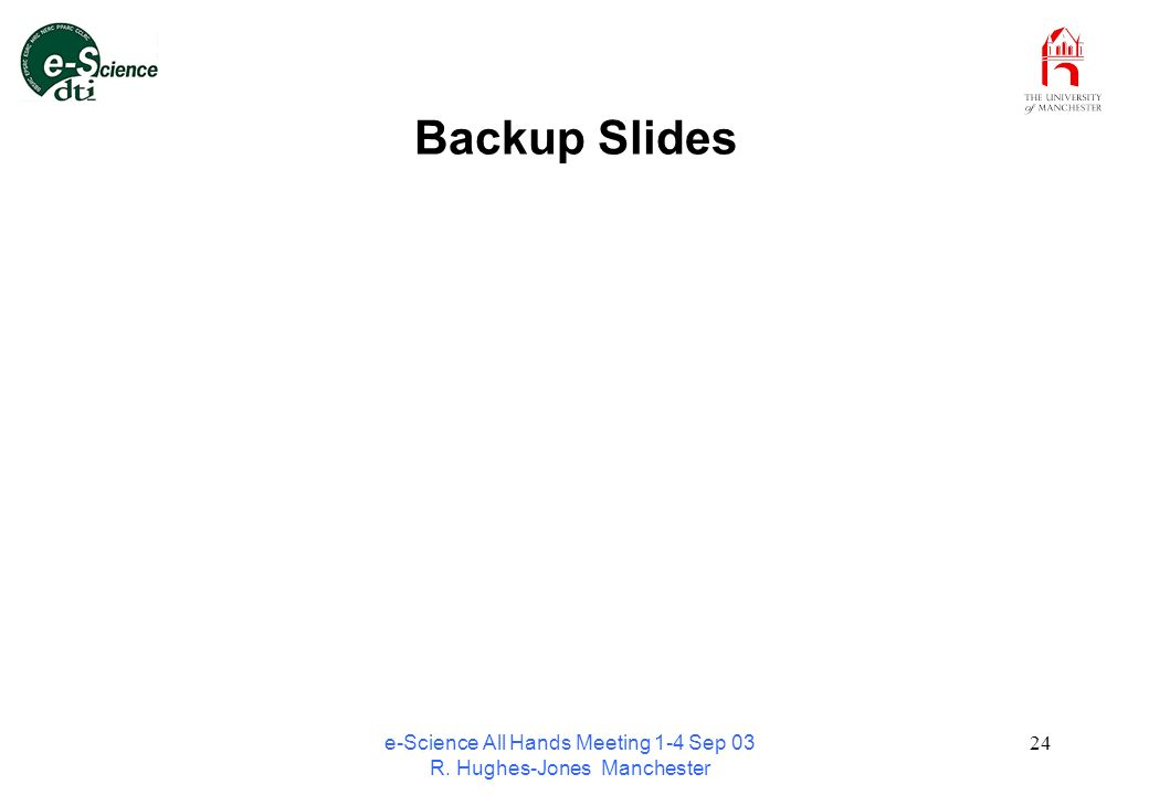 e-Science All Hands Meeting 1-4 Sep 03 R. Hughes-Jones Manchester 24 Backup Slides