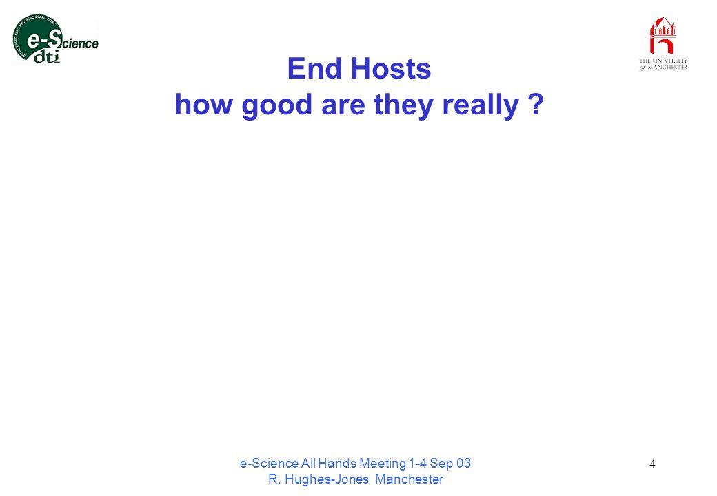 e-Science All Hands Meeting 1-4 Sep 03 R. Hughes-Jones Manchester 15 Application Throughput