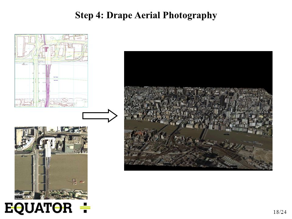 18/24 Step 4: Drape Aerial Photography