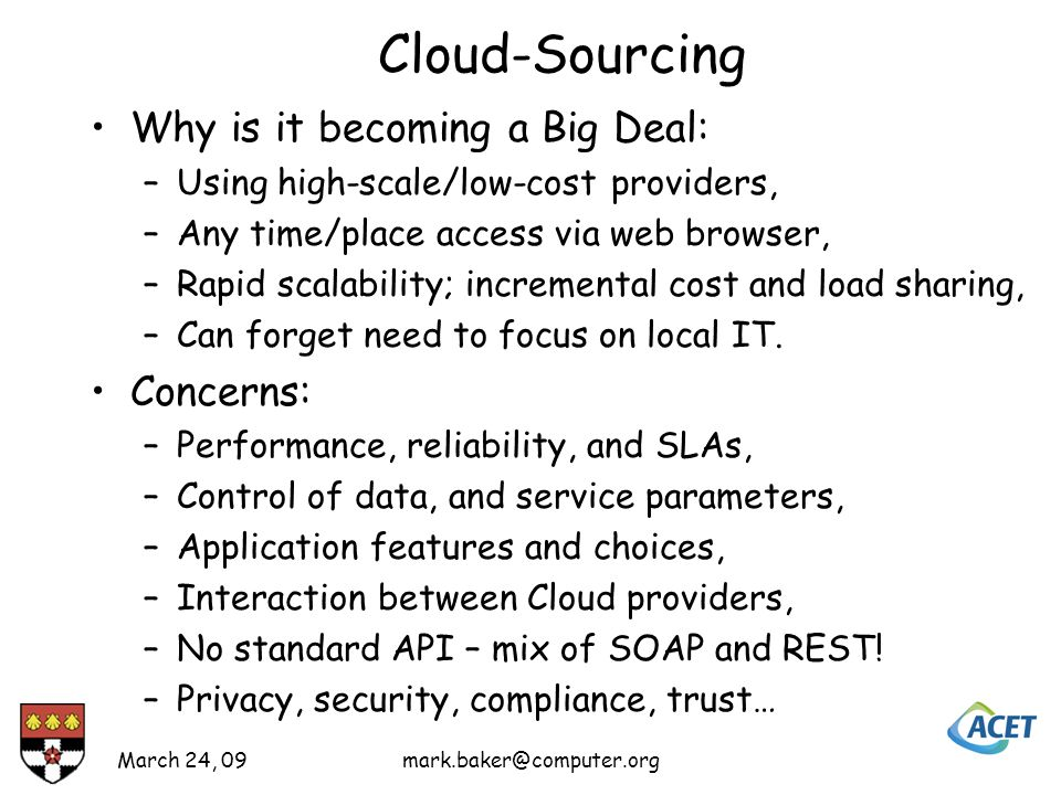 Different types of Cloud Amazon: –Computing in the cloud.