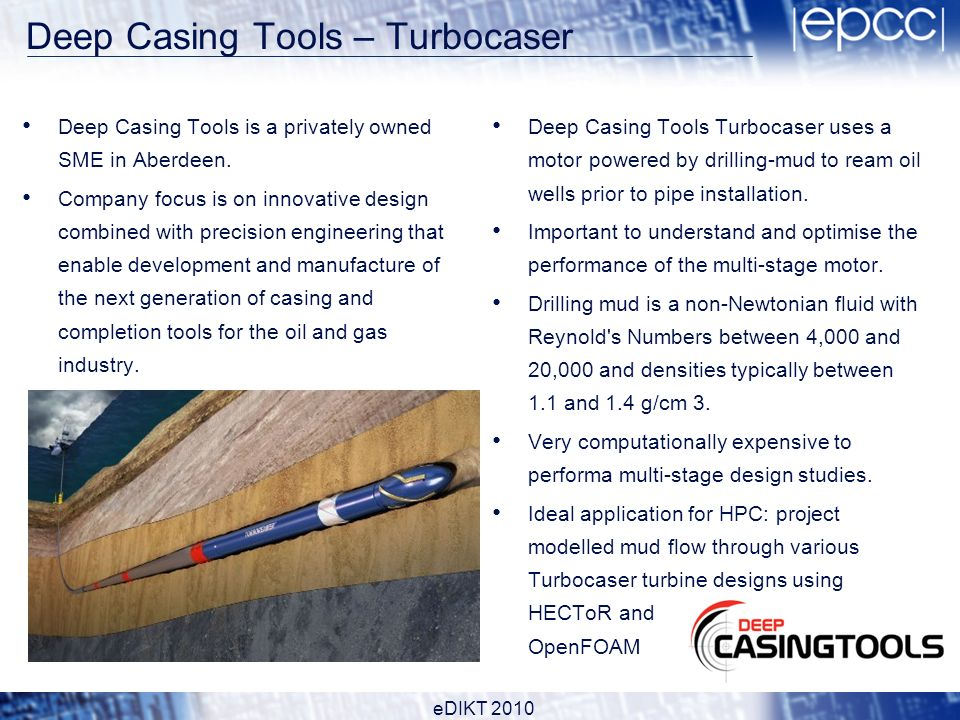 Deep Casing Tools – Turbocaser Deep Casing Tools is a privately owned SME in Aberdeen.