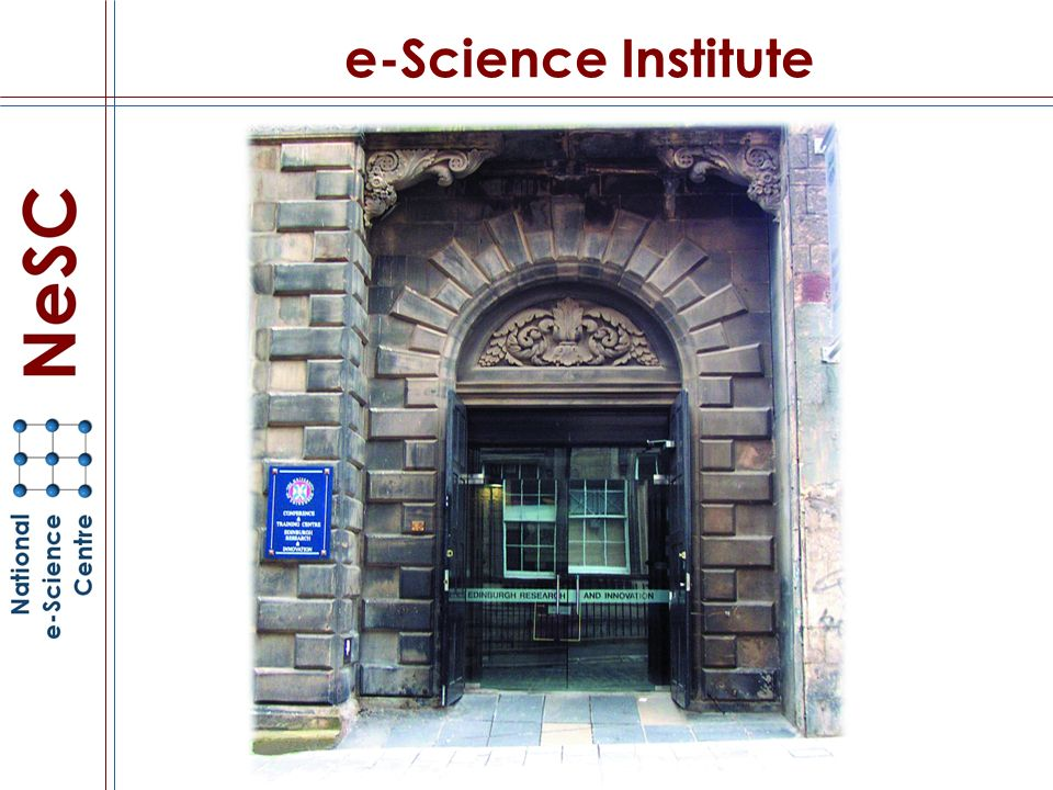 e-Science Institute
