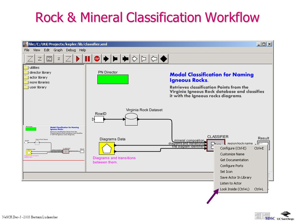 NeSCR Dec Bertram Ludaescher Rock & Mineral Classification Workflow
