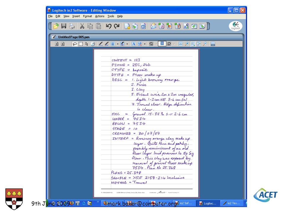 9th June 2009mark.baker@computer.org