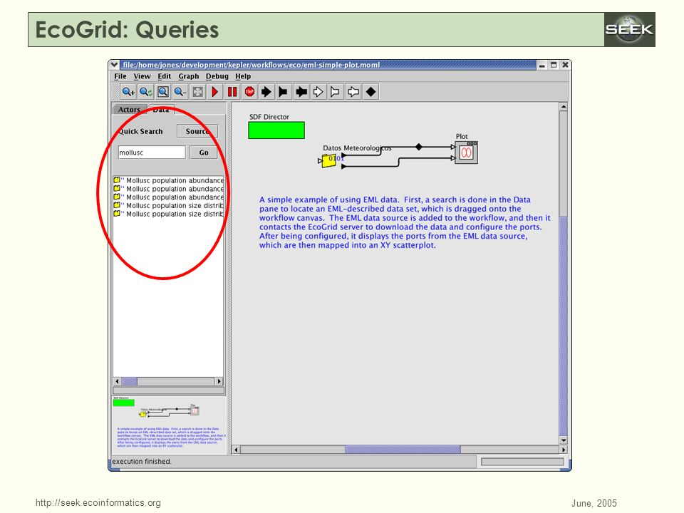 http://seek.ecoinformatics.org SWDBAug 29, 2004 June, 2005 EcoGrid: Queries