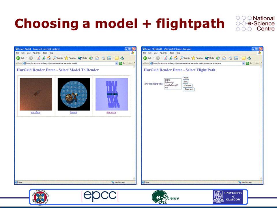 Choosing a model + flightpath