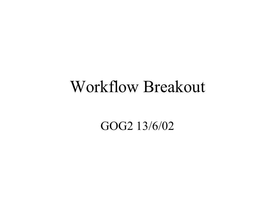 Workflow Breakout GOG2 13/6/02