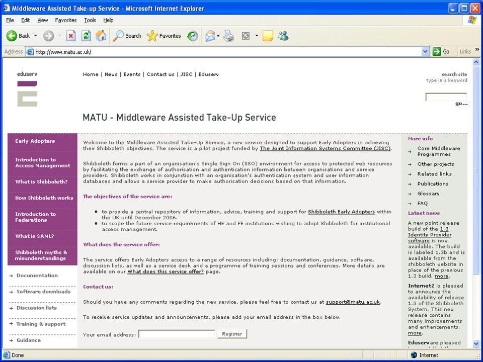 Security & Access Management Workshop – Edinburgh – 20 Oct 2005