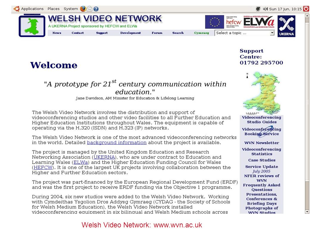 Welsh Video Network: www.wvn.ac.uk