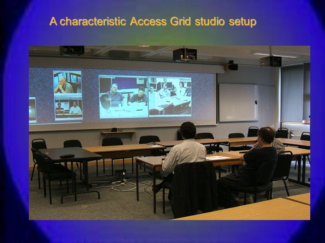 A characteristic Access Grid studio setup