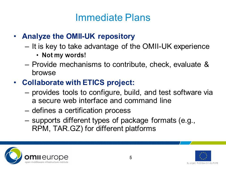 EU project: RIO31844-OMII-EUROPE ETICS at a Glance courtesy of A.