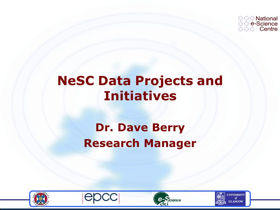 Contents The Data Deluge Web Services The DAI vision The OGSA-DAI Project and GGF The OGSA-DAI Software Edikt Other relevant projects in the UK