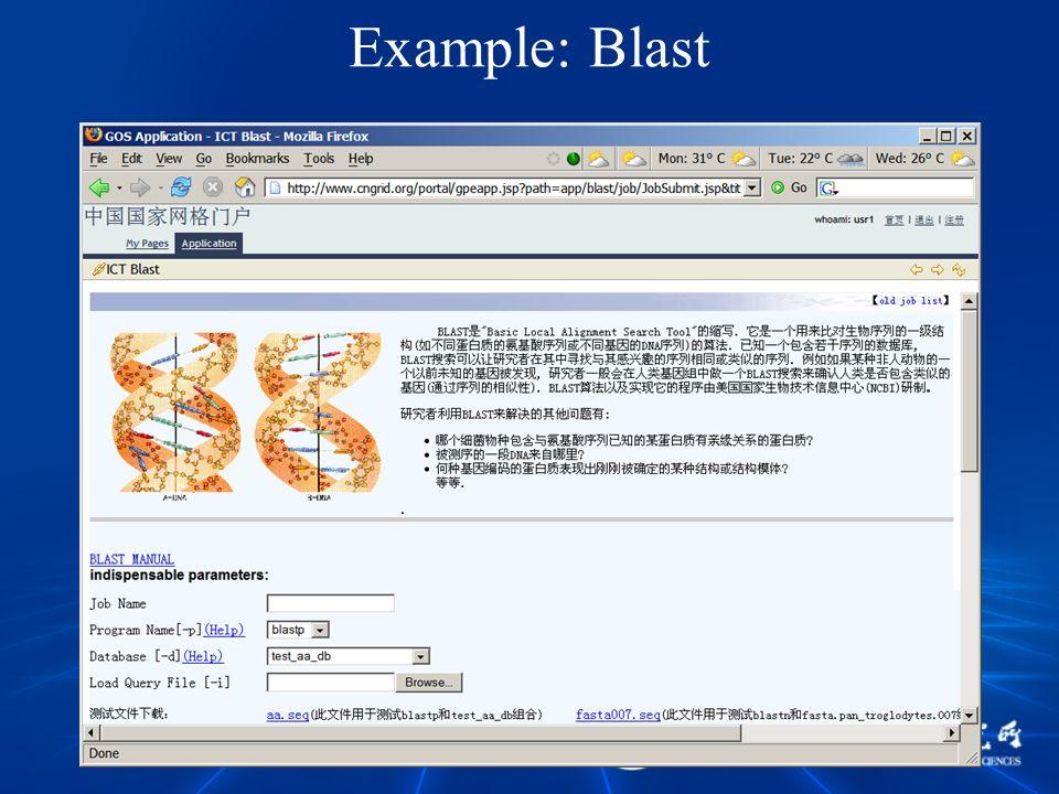 Example: Blast