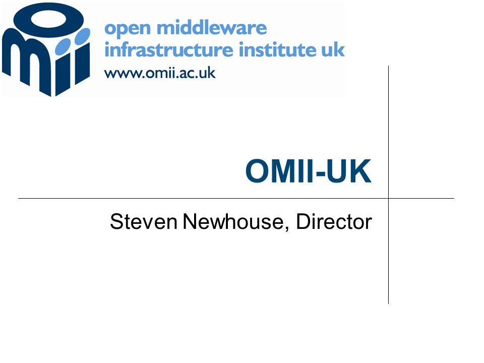 OMII-UK Steven Newhouse, Director