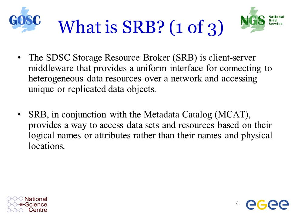 4 What is SRB.