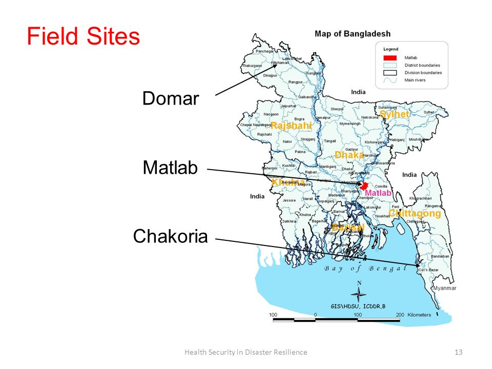 Health Security in Disaster Resilience13 Domar Matlab Chakoria Field Sites