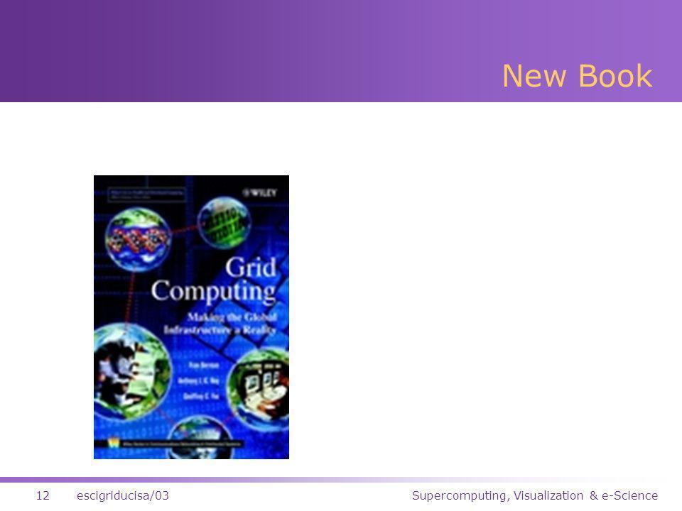 Supercomputing, Visualization & e-Science12escigriducisa/03 New Book