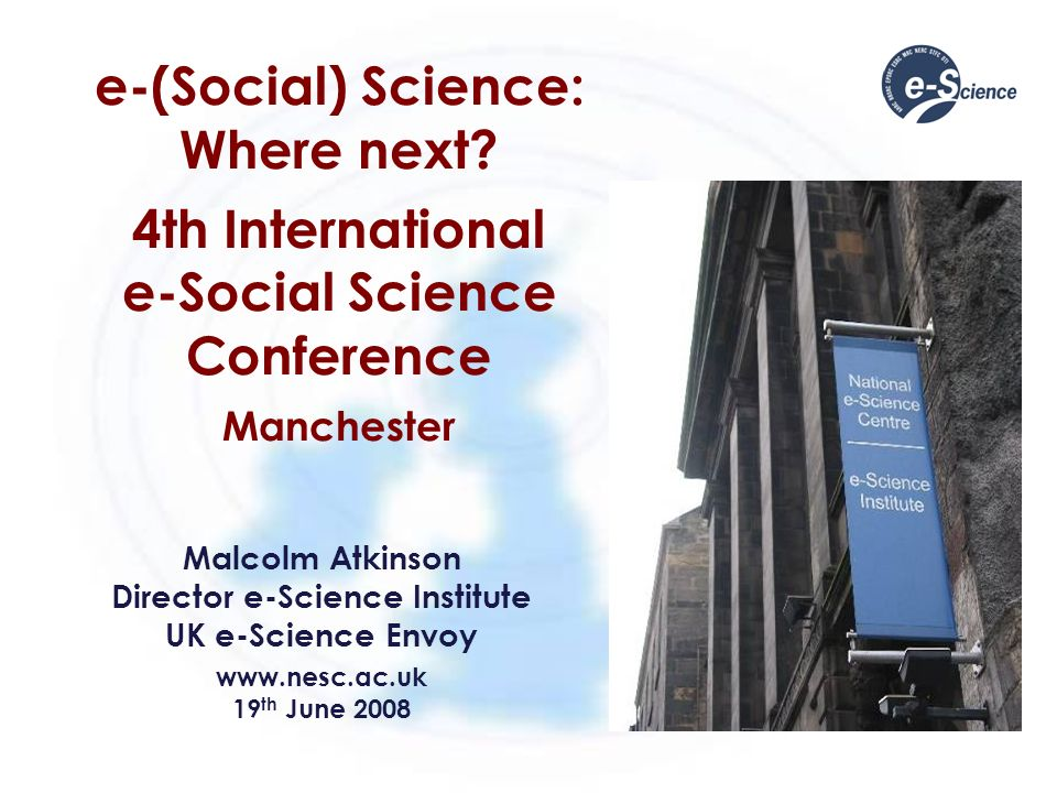 e-(Social) Science: Where next.