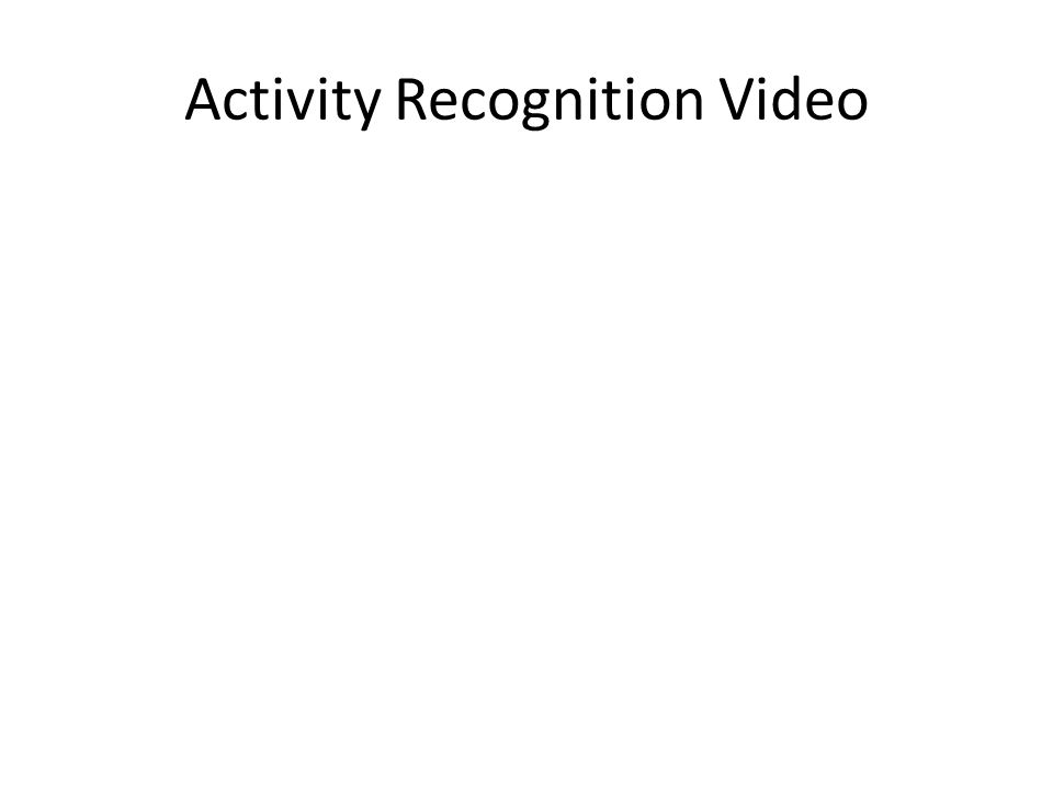 Activity Recognition Video