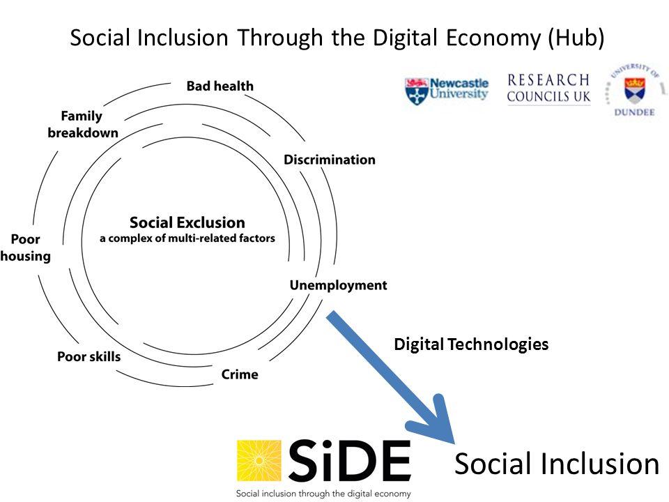 Social Inclusion Through the Digital Economy (Hub) Social Inclusion Digital Technologies