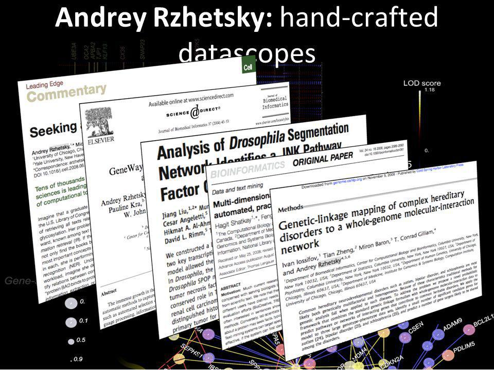 Andrey Rzhetsky: hand-crafted datascopes