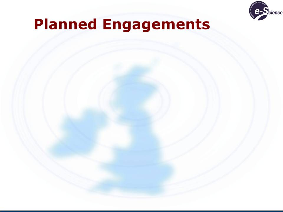 Planned Engagements