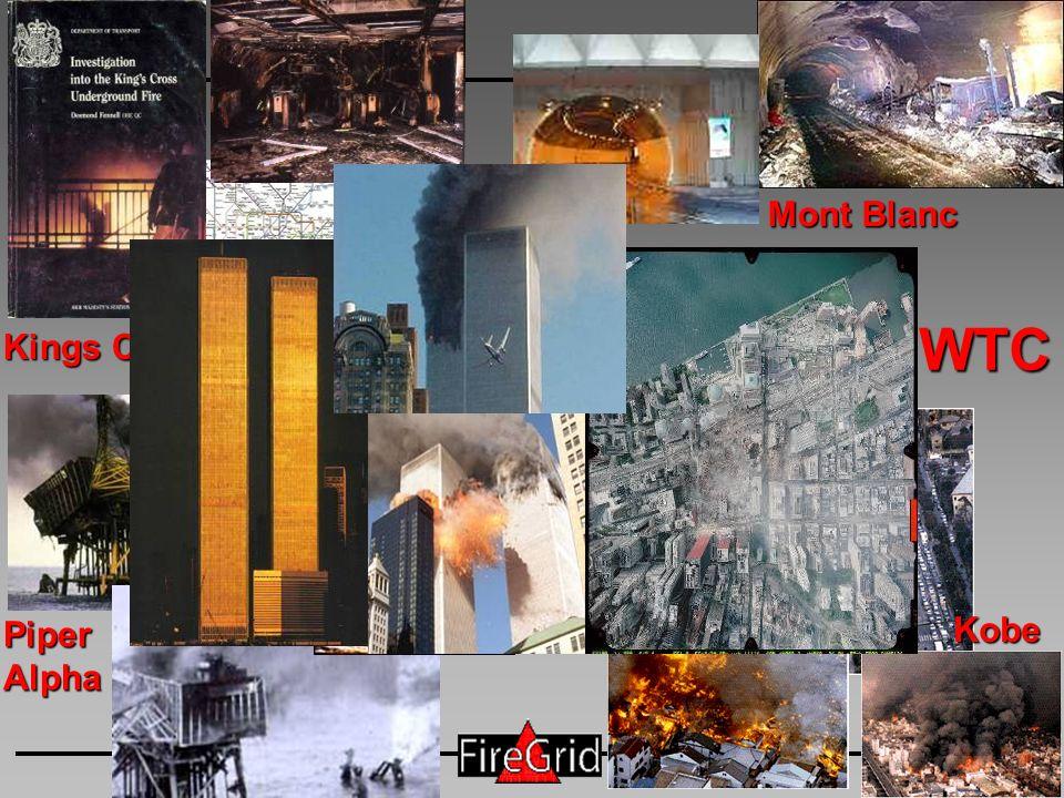 FireGrid PiperAlpha Mont Blanc Kobe Kings Cross WTC