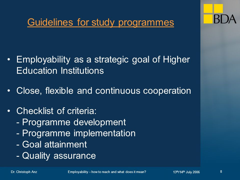 Employability – how to reach and what does it mean.