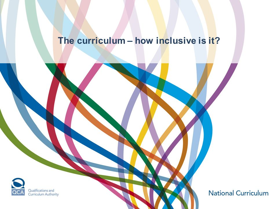The curriculum – how inclusive is it?