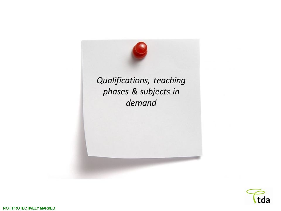 NOT PROTECTIVELY MARKED Qualifications, teaching phases & subjects in demand