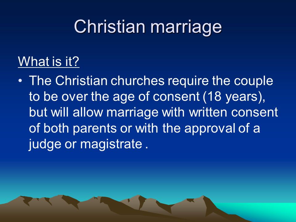 Christian marriage What is it.