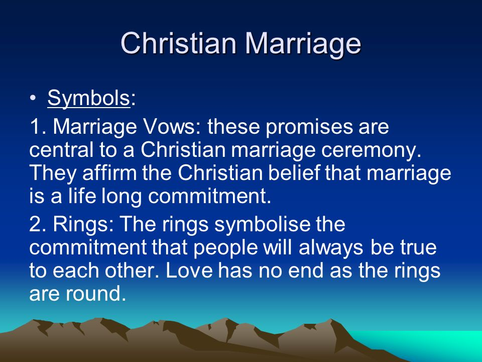 Christian Marriage Symbols: 1.