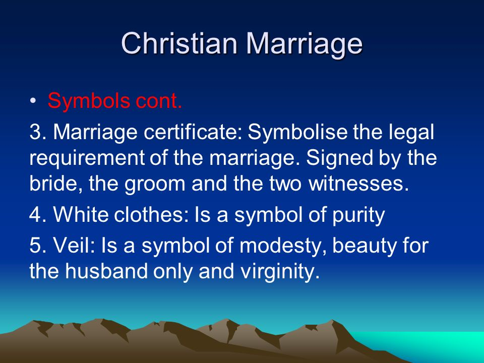 Christian Marriage Symbols cont. 3.