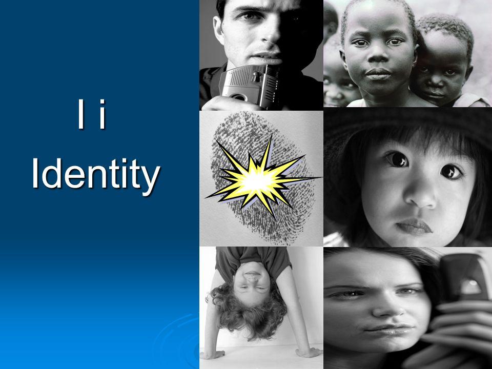 I i I iIdentity