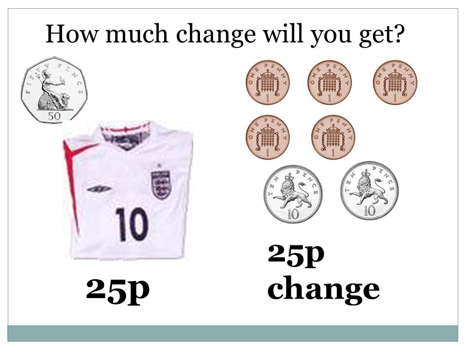 How much change will you get 25p 25p change