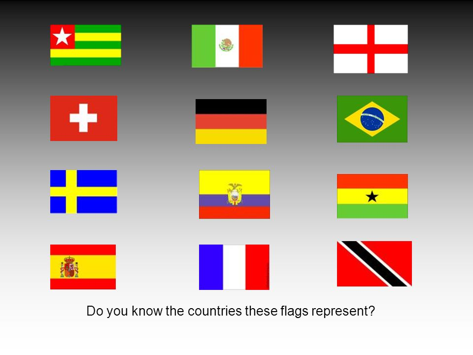 Do you know the countries these flags represent?