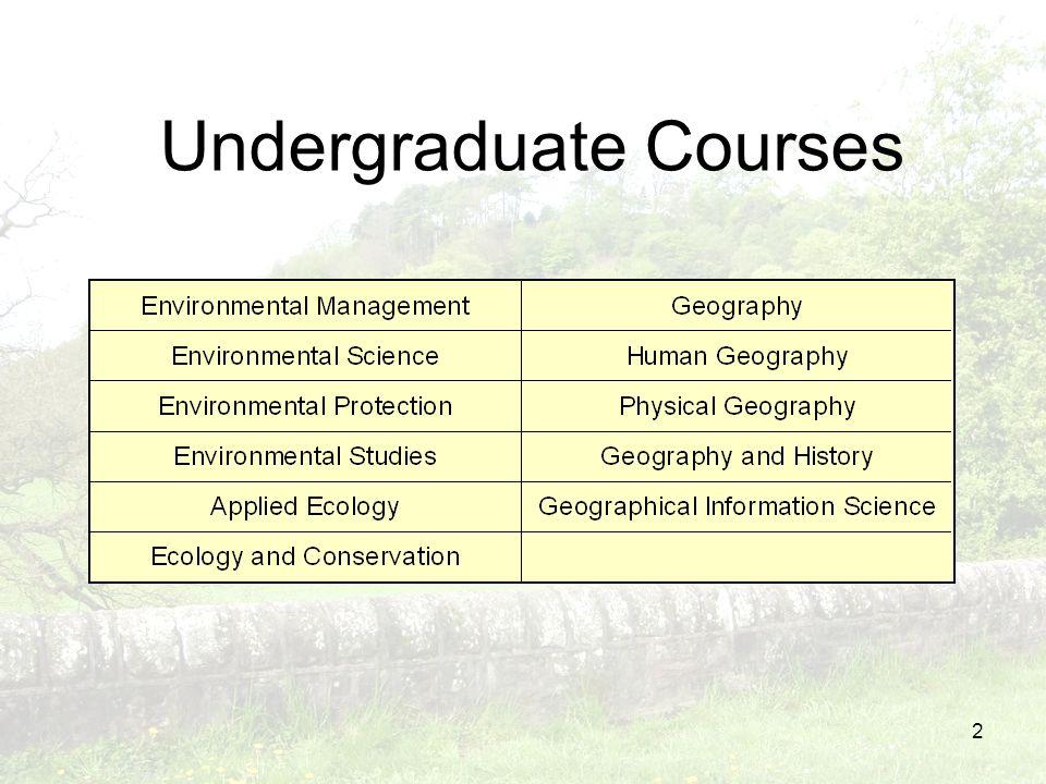 2 Undergraduate Courses