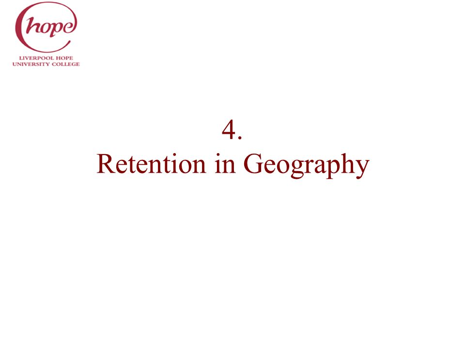 4. Retention in Geography