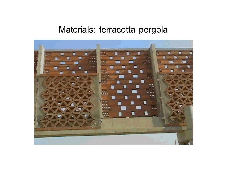 Materials: terracotta pergola