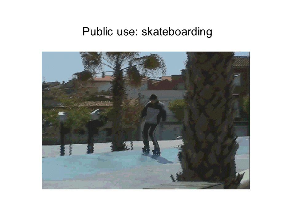 Public use: skateboarding