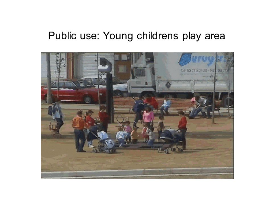 Public use: Young childrens play area