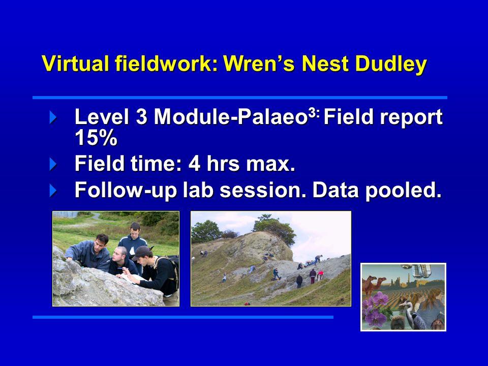 Virtual fieldwork: procedures/ software Five digital panoramas (one per site) have been taken at Wren s Nest Five digital panoramas (one per site) have been taken at Wren s Nest Processed using VR-worx.