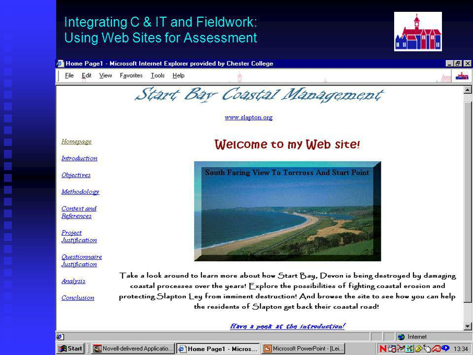 Integrating C & IT and Fieldwork: Using Web Sites for Assessment