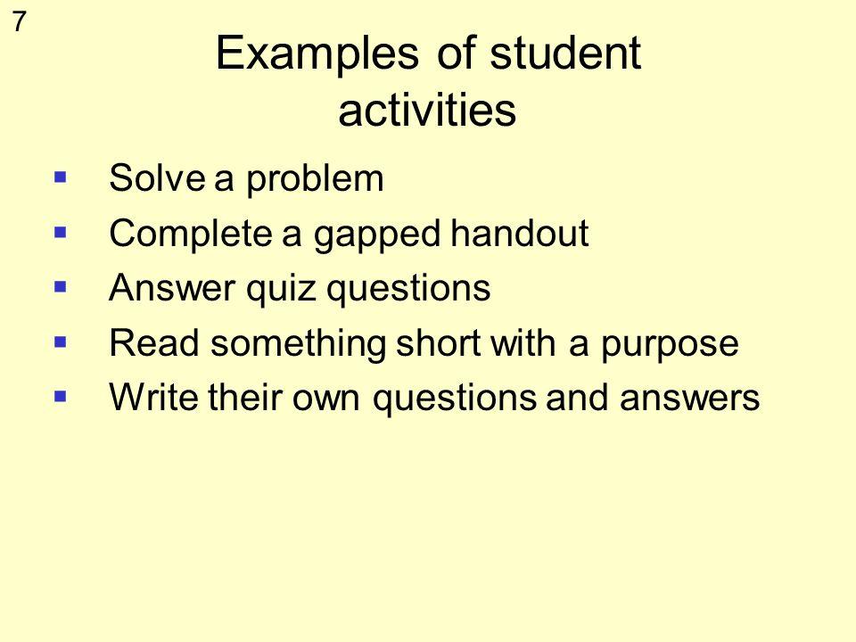 6 Individual activity