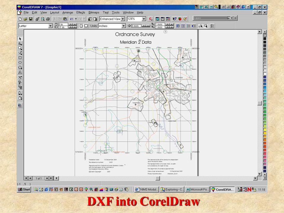 DXF into CorelDraw