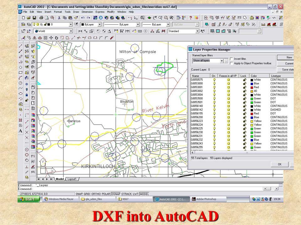 DXF into AutoCAD