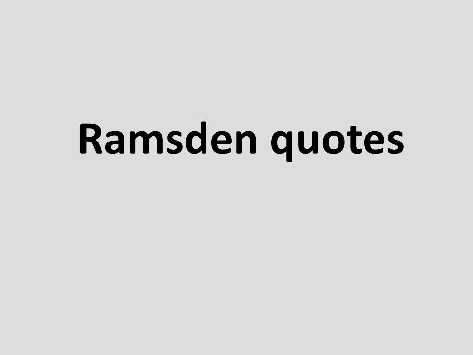 Ramsden quotes