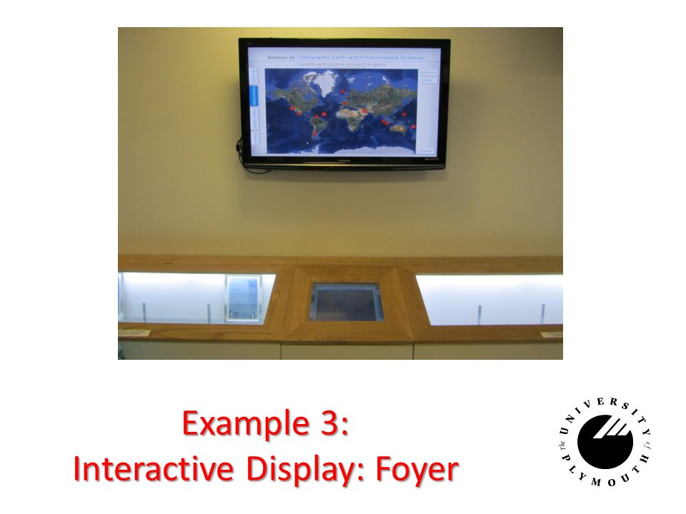 Example 3: Interactive Display: Foyer