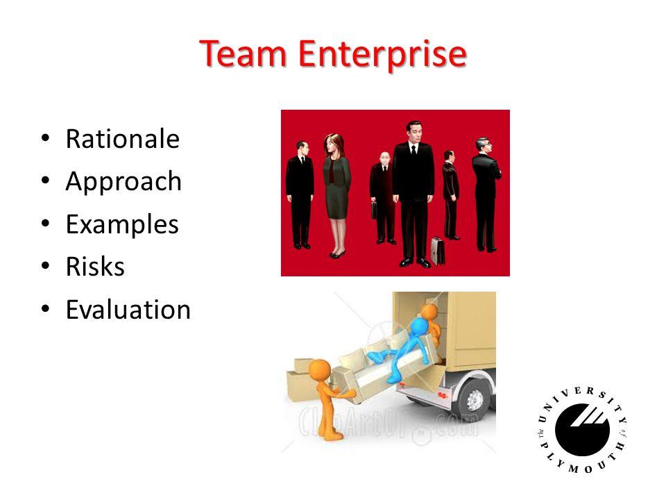 Team Enterprise Rationale Approach Examples Risks Evaluation