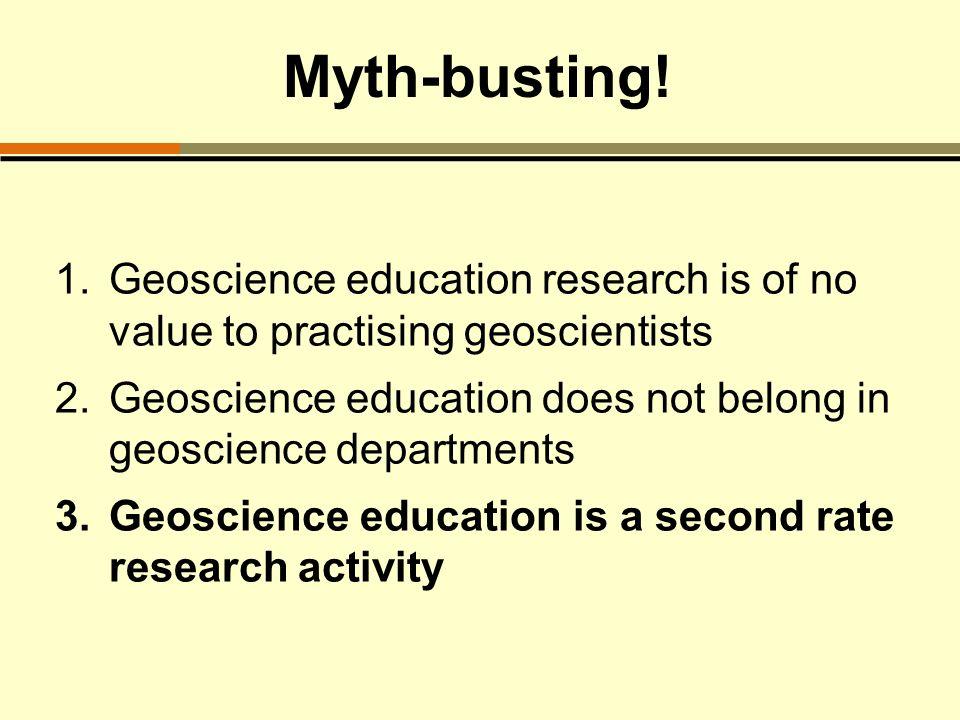 Myth-busting.